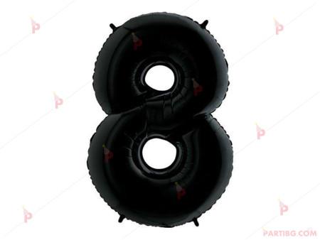 "Фолиев балон цифра ""8"" - черен 1м."