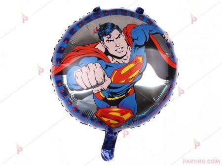 Фолиев балон кръгъл със Супермен
