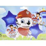 Фолиеви балони комплект от 5 бр. - Пес Патрул Маршал | PARTIBG.COM