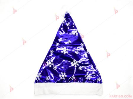 Коледна шапка със сребриста декорация