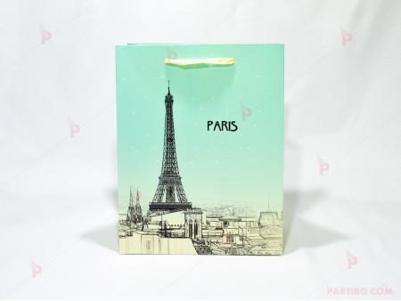 Подаръчна торбичка декор Paris